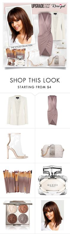 """Rosegal3"" by sneky ❤ liked on Polyvore featuring Armani Jeans, Gucci, Chantecaille and rosegal"