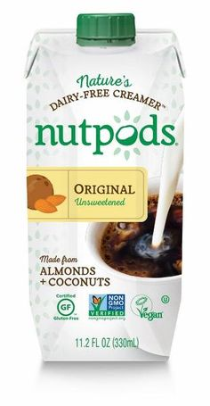 nutpods is a dairy-free creamer made from heart-healthy almonds, MCT-rich coconuts. Buy a 4-pack of the original, unsweetened non-dairy creamer.