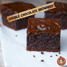 Paleo Brownies (Double Chocolate)