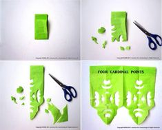 Tutorial que nos enseña a crear diferentes figuras recortando papel, ideal para ambientar fiestas de cumpleaños: