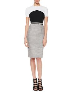 Jason Wu Crepe/Tweed T-Shirt Dress as worn by Jackie Sharp (Molly Parker) on Season 3 of House of Cards