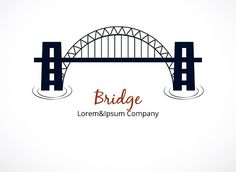 Bridge Logo Graphic Design Graphics Simple Bridge Logo Graphic Design with Editable Text Area Isolated on White Background by Microvector Business Icon, Business Brochure, Business Card Logo, Business Illustration, Pencil Illustration, Icon Design, Logo Design, Graphic Design, Bridge Icon