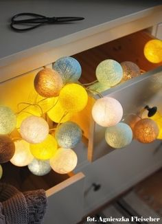 """Cotton Ball Lights - new colour """"Sunny Turquoise"""""""