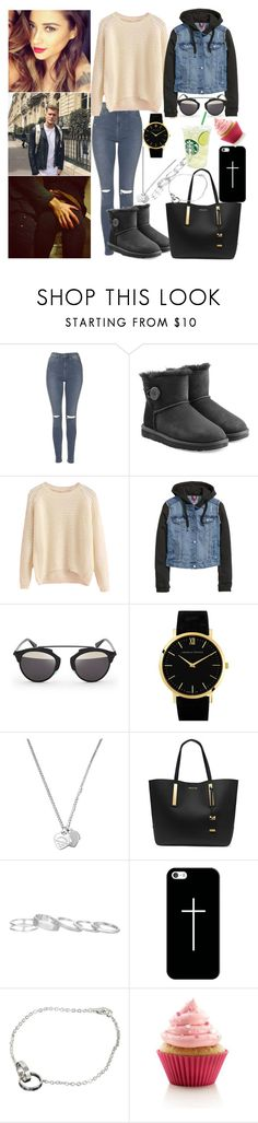 """""""shopping w/ my boy ♥"""" by ally-xcv ❤ liked on Polyvore featuring Topshop, UGG, H&M, Christian Dior, Larsson & Jennings, Tiffany & Co., Michael Kors, Kendra Scott, Casetify and Cartier"""