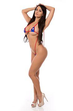 Pashence % White Stars On Blue And Red Sling Bikini - Swimxotic Mini Bikini, Sexy Bikini, Bikini Girls, American Flag Bikini, Coral Bikini, White Bikinis, Swimsuits, Houston Rockets, Sexy Feet