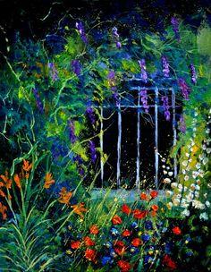 """Saatchi Online Artist: Pol Ledent; Oil, 2012, Painting """"Glycine 45"""""""
