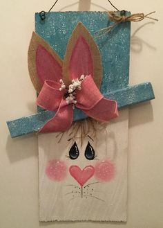 This item is unavailable - - This item is unavailable easter Bunny Door Wall Hanging. Easter Bingo, Easter Puzzles, Easter Activities For Kids, Easter Gift, Easter Projects, Easter Crafts, Bunny Crafts, Craft Projects, Craft Ideas