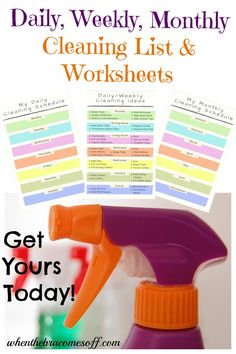 Stay organized with these home cleaning worksheets and list ideas. Free printable for easy organization! Car Cleaning Hacks, Daily Cleaning, Deep Cleaning, Natural Air Freshener, Clean Baking Pans, Grout Cleaner, Professional Cleaning, House Smells, Me Clean