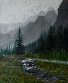 In the Tatra Valley. Oil on canvas. Author: Witold Kubicha