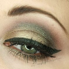 Gold with Green Flecks