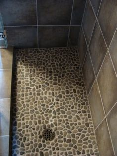 natural stone shower pan floor