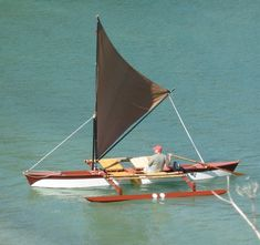 Perfect Outrigger Canoe- next boatbuilding project? Wooden Canoe, Wooden Boat Building, Boat Building Plans, Boat Plans, Wooden Boats, Canoe Camping, Canoe Trip, Canoe And Kayak, Cool Boats