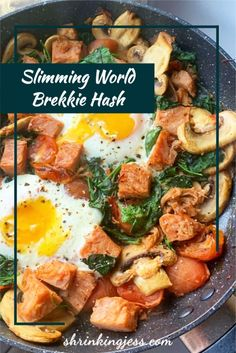 This delicious brekkie hash will keep you full until lunch! Completely syn free and filling you really can't go wrong with this one! Delicious Breakfast Recipes, Vegetarian Breakfast, Brunch Recipes, Breakfast Hash, Breakfast Ideas, Canned Corned Beef, Slimming World Breakfast, Hash Recipe, Speed Foods