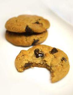 PB Choc Chip Cookies (flourless)
