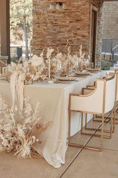 Neutral Wedding Decor, Beige Wedding, Chic Wedding, Floral Wedding, Neutral Wedding Flowers, Wedding Dress, Wedding Dinner, Wedding Table, Summer Wedding