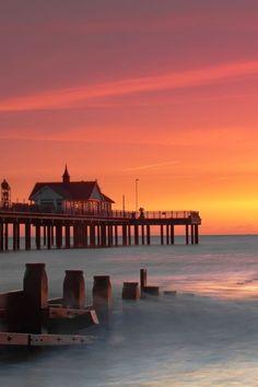 Southwold Pier at Sunrise, , Suffolk, England