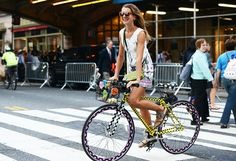 This Polka Dot bike is a total Polka Do. Tommy Ton's shots from Fashion Week are always the best part for me.