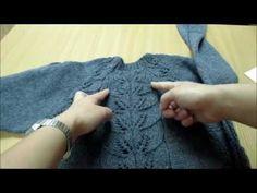 @jagoda_marinka Мой серый джемпер с ажурными листьями. Как я его вязала. - YouTube