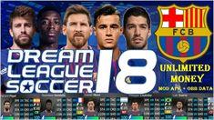 Dream League Soccer 2018 MOD APK FC Barcelona Data Download Soccer Kits, Soccer Games, Lionel Messi, Fc Barcelona, Cell Phone Game, Game Update, Best Games, Fifa, Android Apk