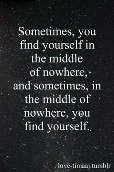 Middle of nowhere