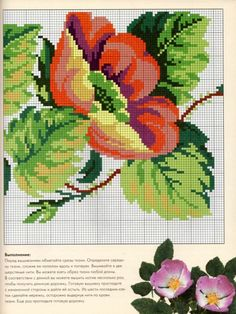ru / Photo # 50 - Golden encyclopedia of needlework - OlgaHS Cross Stitch Love, Cross Stitch Borders, Cross Stitch Flowers, Cross Stitch Patterns, Cat Cross Stitches, Vintage Cross Stitches, Cross Stitch Embroidery, Hand Embroidery, Embroidery Patterns Free
