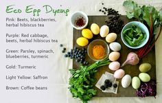 """Colorado's @kelly anne to Door Organics offers some """"Eco Egg Dyeing"""" Tips for Easter this year - using everything from coffee beans to beets."""