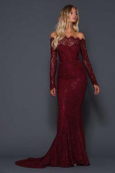 Serine Wine Dress By Elle Zeitoune