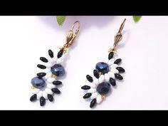 СЕРЬГИ из бисера на каждый день/Черно-белые серьги/Серьги из твина - YouTube Crystal Jewelry, Wire Jewelry, Jewelry Art, Beaded Jewelry, Jewelery, Jewelry Design, Beaded Earrings, Drop Earrings, Twin Beads