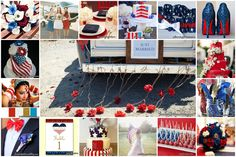 Looking to plan a summer wedding? Why not celebrate your big day on one of America's National Holidays? The 4th of July is a wonderful time for family and friends and makes for a great wedding color scheme!