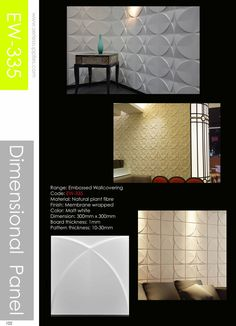 Embossed Wallcoverig comes in the form of plant fiber products.Our Embossed Wallcovering 2nd Generation are built to be long lasting and to resist wear. The Wallcovering have the feel of solid fibreboard and can be easily painted with wall paint. For installation : https://www.youtube.com/watch?v=jO6CMubXEW