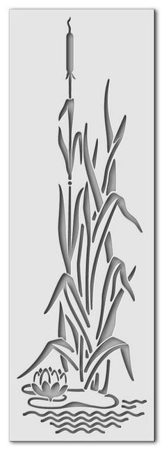 Wandschablonen Schilf - Schablono