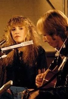 Such a beautiful picture of Stevie with her mentor and friend Tom Petty.