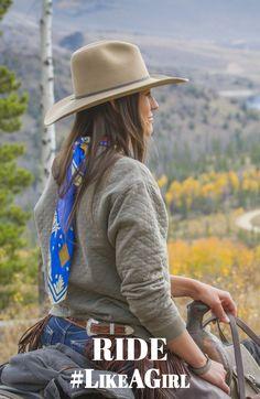 Ride #LikeAGirl, A cowgirl.  @CLazyURanch