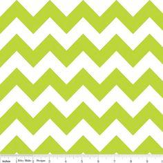 Riley+Blake+MEDIUM+Chevron++Lime+Green+++1/2+by+BeeYourselfFabrics,+$4.50