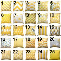 Jaune coussin  Premier imprime jaune coussin par Modernality2, $18.95