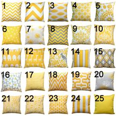 Premier Prints Yellow Lumbar Pillow Cover- 12x16 or 12x18 inches- Hidden Zipper Closure- You Choose