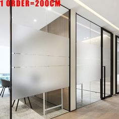 Frosted Window Film Privacy No Glue Static Cling Heat Transfer Vinyl Glass Sticker for Bathroom Glass Film Decorative Glass Sticker Design, Glass Film Design, Frosted Glass Design, Frosted Glass Sticker, Office Space Design, Modern Office Design, Office Interior Design, Office Interiors, Frosted Window Film