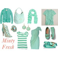 Minty Fresh is right.  Loving the purity of this color trend!