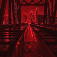 Dallas is going (RED). I'm making one of my favorite Dallas shots available for a limited time in (RED). I will donate 25% of every sale to the (RED) campaign to fight aids. @red http://nuvango.com/josephhaubert/dallas-train-track-reflection-red