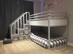 Trendy baby room ideas for girls ikea kura bed ideas Toddler Bunk Beds, Bunk Beds Boys, Kid Beds, Bunk Beds For Toddlers, Cool Kids Beds, Ikea Toddler Bed, Loft Beds, Bed Stairs, Bunk Beds With Stairs