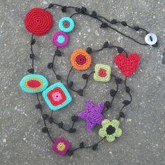 -Hebe Crochet Motifs Necklace by gitte