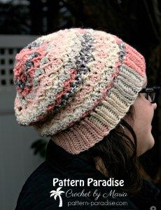 FREE - CROCHET - Sunset Blush Hat ~ easy level ~ feminine and pretty ~ variation of typical shell stitch ~ solid enough to keep you warm but not so thick that it is uncomfortable ~ fits average adult Crochet Adult Hat, All Free Crochet, Crochet Beanie Pattern, Diy Crochet, Crochet Patterns, Crochet Hats, Hat Patterns, Crochet Ideas, Crochet Pouch