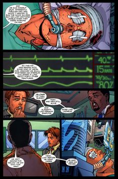 Jason Todd in the hospital after he came back to life. So sad, who would create something like this D': !!!?