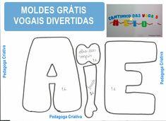 Ateliê Pedagoga Criativa: Moldes das vogais divertidas