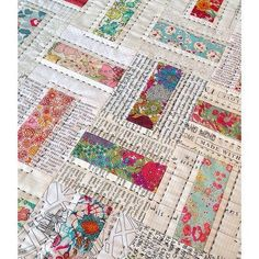 Domino quilt in Liberty fabric ❤️   Flickr - Photo Sharing!