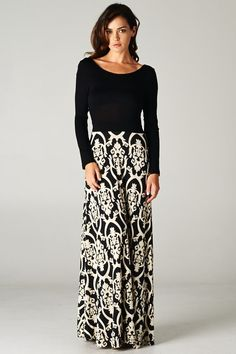 Love this Baroque Print Maxi from Catchbliss.com! #fashion #style #clothing