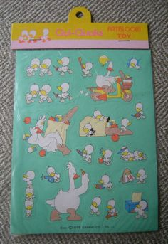 Vtg NIP 1979 SANRIO Qui Quaks ducks Sticker Sheet New Sealed Package