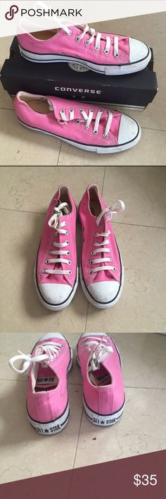 Converse pink sneakers size 8 women's Converse pink all star sneakers - size women's 8. Some signs of wear around toe but in great shape! Converse Shoes Sneakers