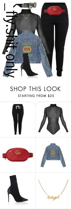 """""""Untitled #2947"""" by flyyshitonly ❤ liked on Polyvore featuring Gucci and Christian Louboutin"""