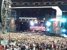En el concierto del Box, junio 2012, Santiago Bernabeu...